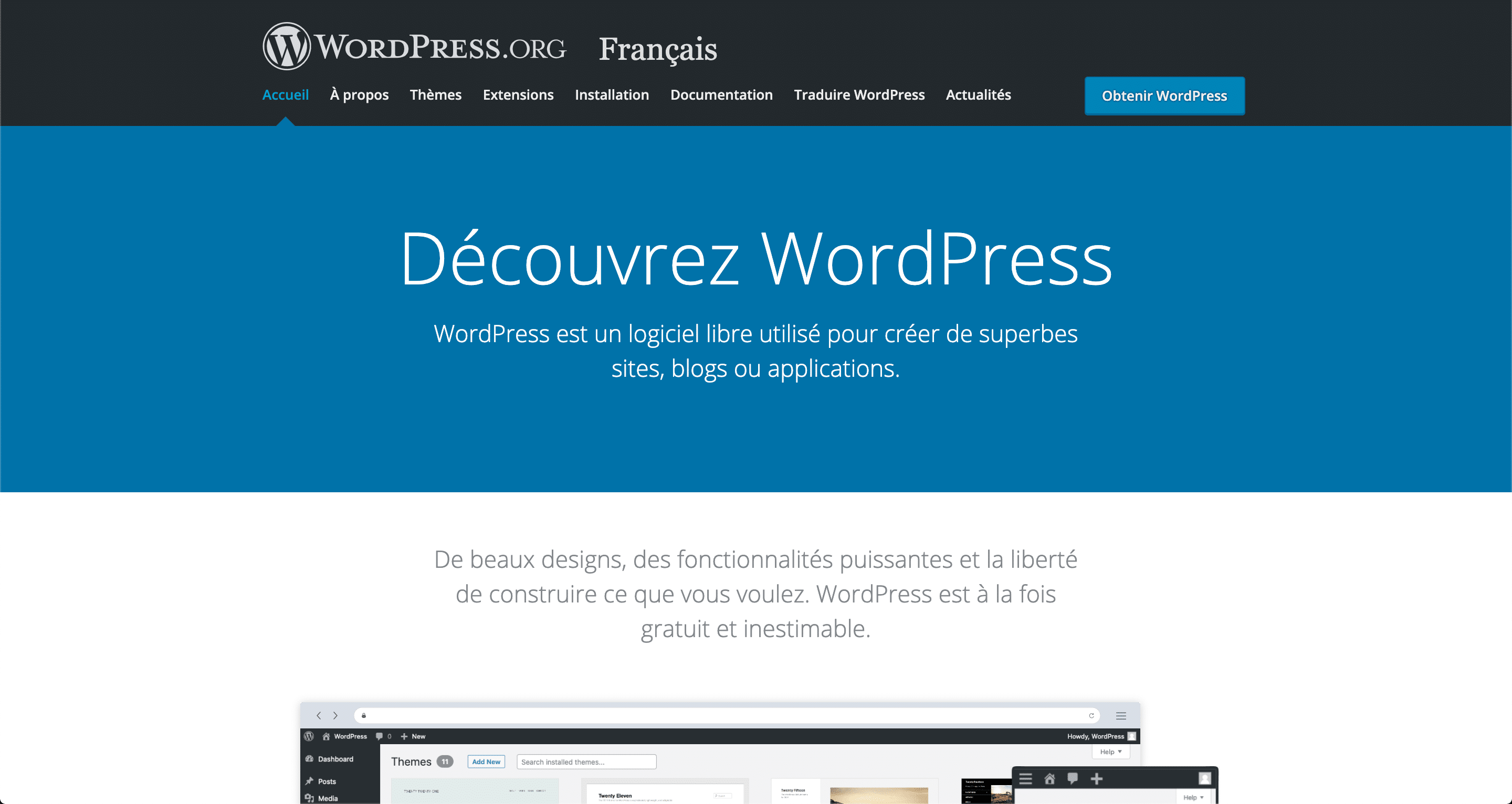 Le CMS WordPress.org ou WordPress payant
